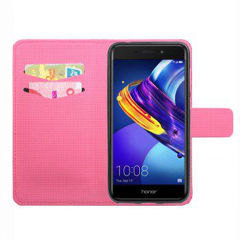 FLip Luxury Leather Case for Huawei Honor V9 Play Card Slots Holder Stand Case Cover - SANGRIA
