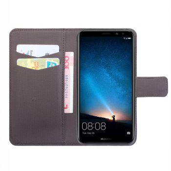 Flip Case Cover for Huawei Mate 10 Lite Leather Luxury Wallet FLip Card Slots Holder Stand Case Cover - BLACK
