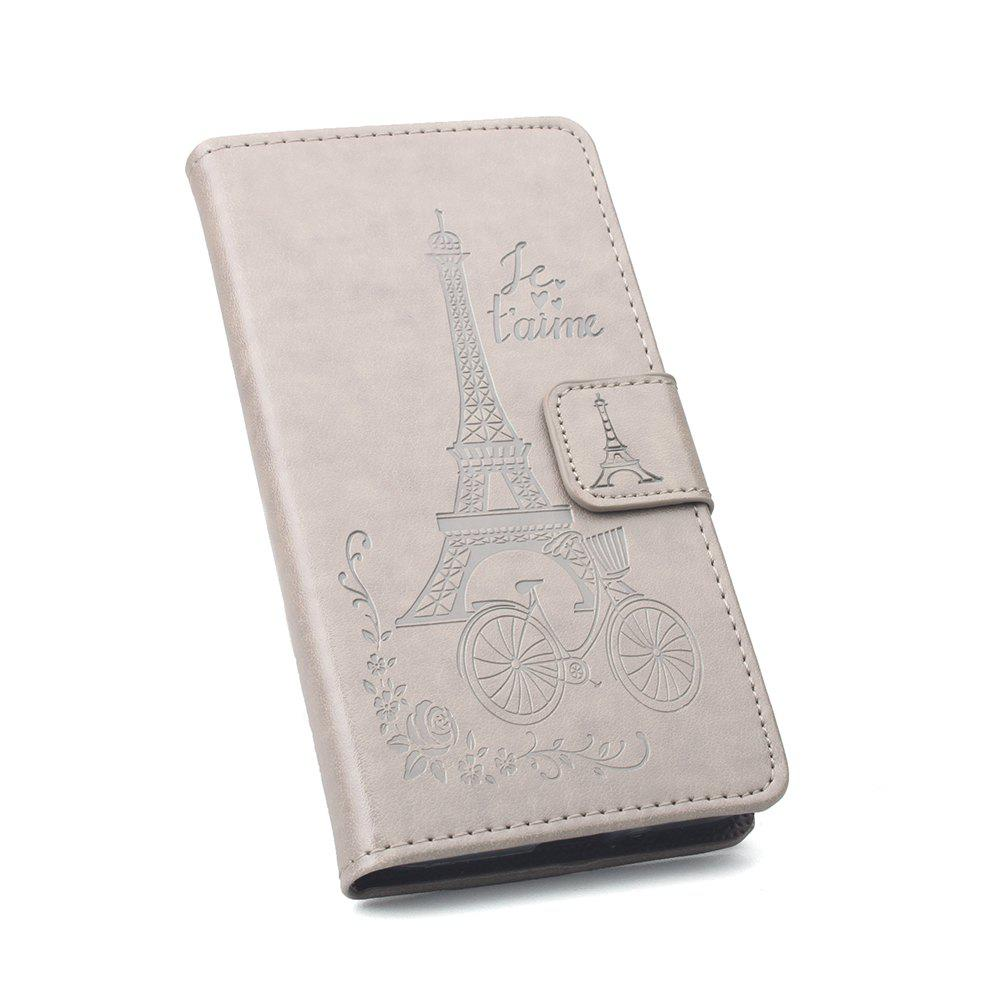 Flip Case Cover for Huawei Mate 10 Lite Leather Luxury Wallet FLip Card Slots Holder Stand Case Cover - GRAY
