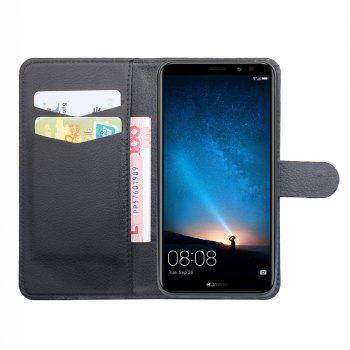 Luxury Wallet Case for Huawei Honor 9I Phone Wallet Leather MobiLe Phone Holster Case - BLACK
