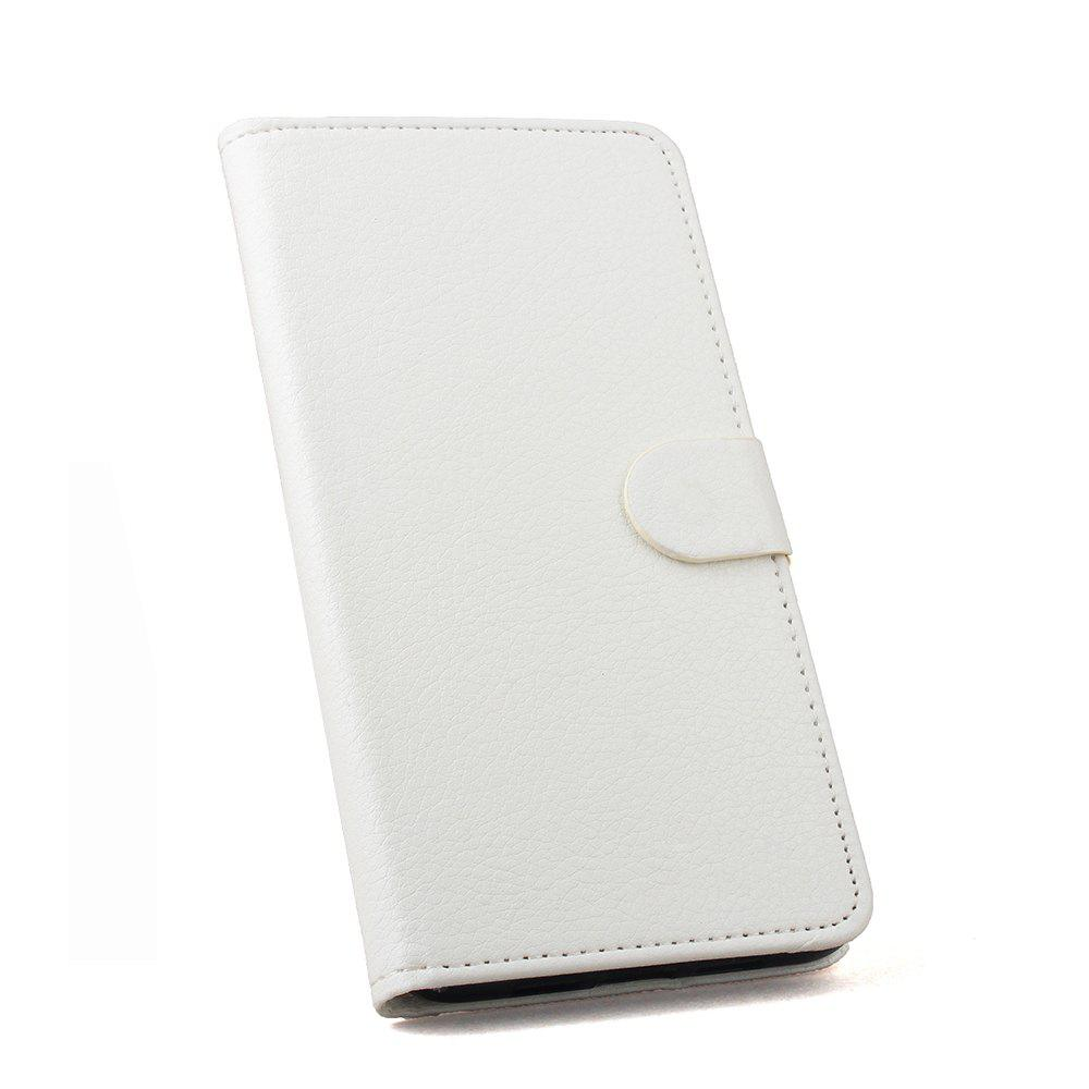 Luxury Wallet Case for Huawei Honor 9I Phone Wallet Leather MobiLe Phone Holster Case - WHITE