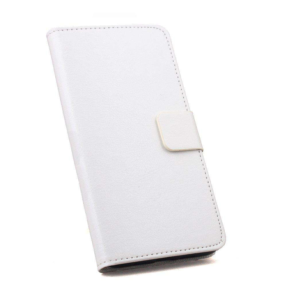 Phone Leather Case for Huawei Maimang 6 Phone Wallet Leather MobiLe Phone Holster Case - WHITE
