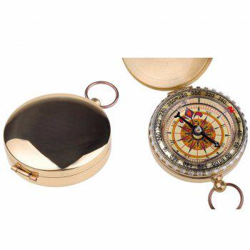 Camping Hiking Portable Brass Pocket Golden Compass Navigation for Outdoor Activities -  GOLDEN