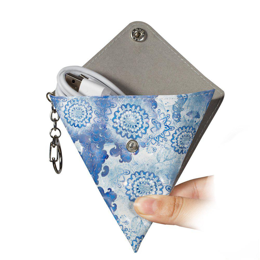 New Fashion PU Leather Small Wallet Purse Key Coin Bag - BLUE
