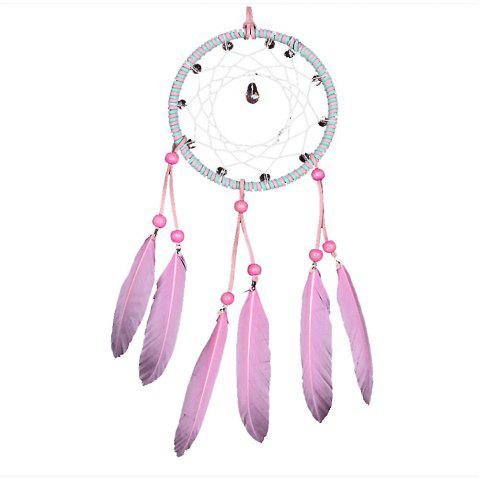 Sweet Pink Crystal Dreamcatcher - PINK