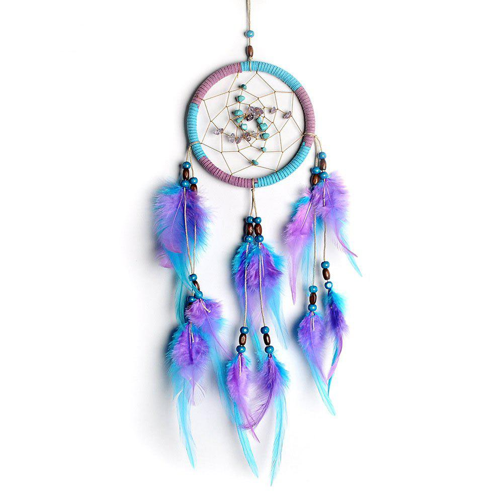 The New Violet Lucky Stone Dreamcatcher Household Pendant - BLUE VIOLET
