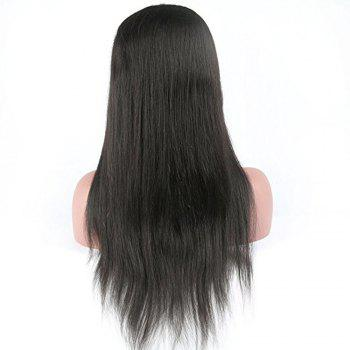 Modern Fairy Virgin Human Hair Front Lace Wig Straight Free Part - BLACK 24INCH