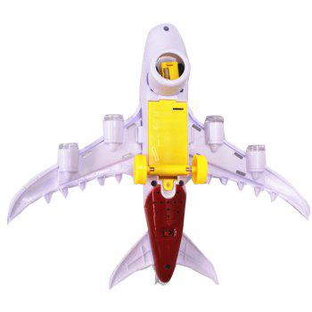 Children Intelligence Assembly Air Passenger Airliner Flashing Sound Music  Plastic Model Aircraft Toys - COLORMIX