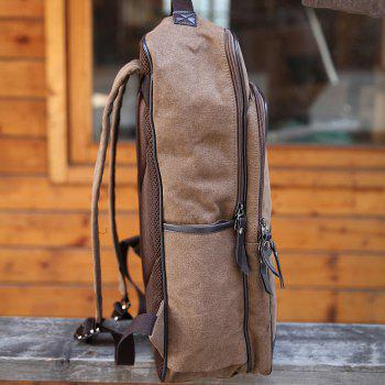 1PC Casual Bag Shoulder Computer Backpack Bags for Travel - CAPPUCCINO