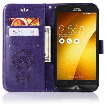 Owl Campanula Fashion Wallet Cover For Asus Zenfone 2 Laser ZE550KL / ZE551KL Phone Bag With Stand PU Flip Leather Case - PURPLE