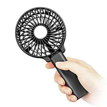 USB Handheld Fan Mini Portable Outdoor Electric  with Rechargeable Battery Adjustable 3 Speeds - BLACK