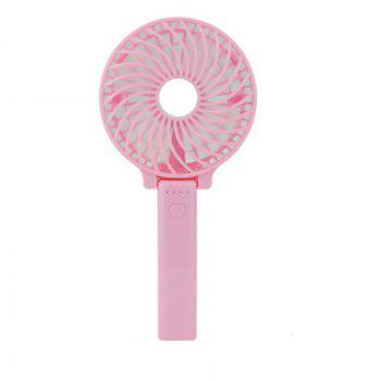 USB Handheld Fan Mini Portable Outdoor Electric  with Rechargeable Battery Adjustable 3 Speeds - PINK PINK