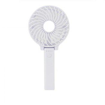 USB Handheld Fan Mini Portable Outdoor Electric  with Rechargeable Battery Adjustable 3 Speeds - WHITE WHITE