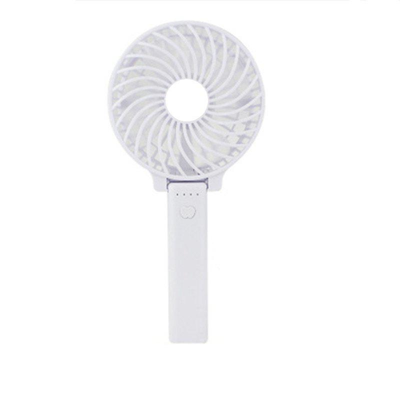 USB Handheld Fan Mini Portable Outdoor Electric  with Rechargeable Battery Adjustable 3 Speeds - WHITE