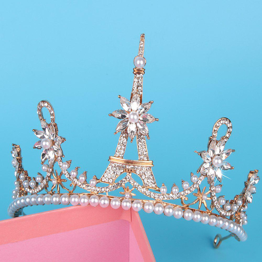 Eiffel crown    Model jewelry  The bride headdress - GOLDEN