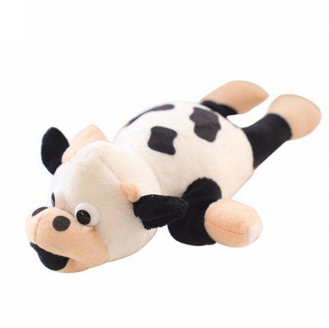New Funny Paw Toys Lovely Novelty Flying Cow Screaming Slingshot Plush Toys Kids Gift - WHITE
