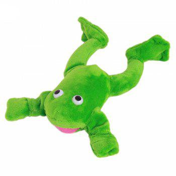 New Funny Paw Toys Lovely Novelty Flying Frog Screaming Slingshot Plush Kids Gift - GREEN GREEN