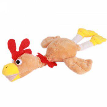 New Funny Paw Toys Lovely Novelty Flying Rooster Screaming Slingshot Plush Kids Gift - YELLOW YELLOW
