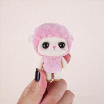 Mini Lovely Flocking Pink Sheep Doll Furnishing Articles Kids Gift - PINK