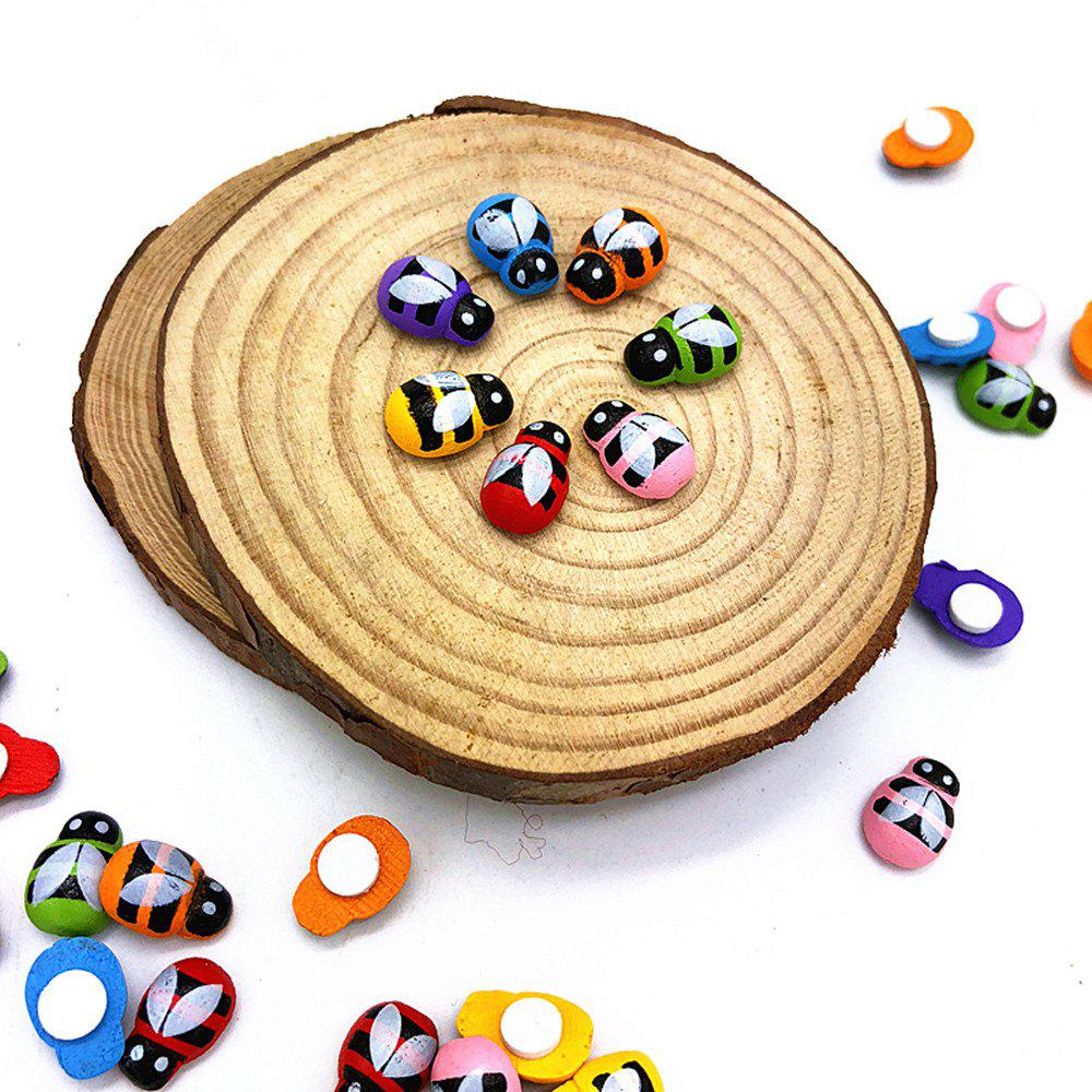 DIY7 Color Mini Bee Wood Paste 100PCS - COLORFUL