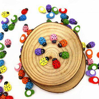 DIY7 Color Mini Ladybug Wood Paste 100PCS -  COLORFUL