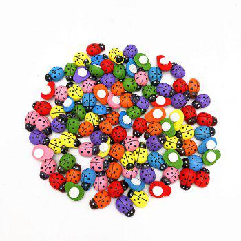 DIY7 Color Mini Ladybug Wood Paste 100PCS - COLORFUL COLORFUL
