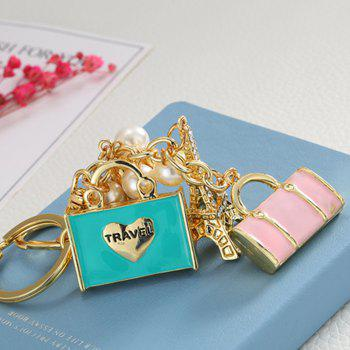 Inlay Pearl Rhinestone Key Chain for Womens Bag Cellphone Car Pendant -  COLOUR