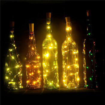 BRELONG 15LED Wine Stopper Brass Lights Decorative Light String -  YELLOW