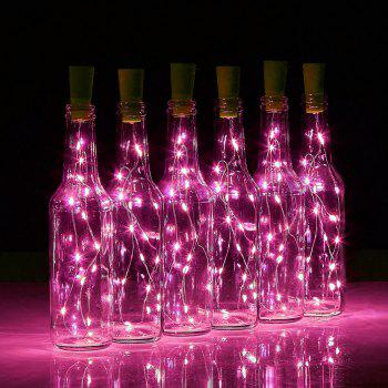 BRELONG 15LED Wine Stopper Brass Lights Decorative Light String -  PINK