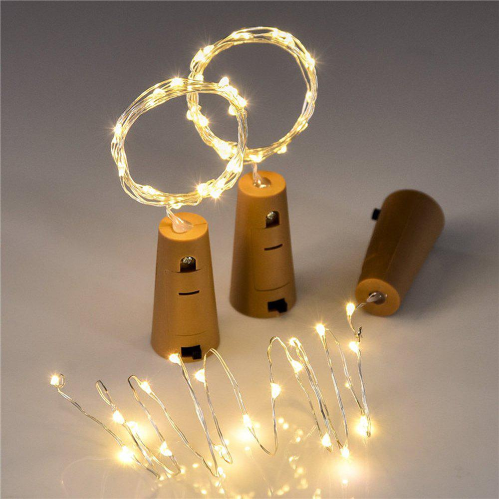 BRELONG 15LED Wine Stopper Brass Lights Decorative Light String - WARM WHITE
