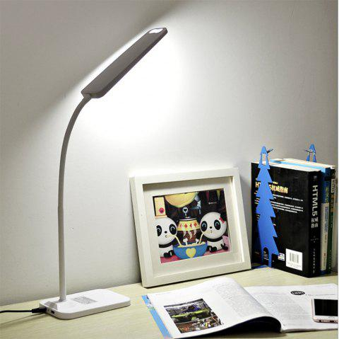 BRELONG LED Table Lamp Dimming Study Reading Lamp USB Output Charging - WHITE