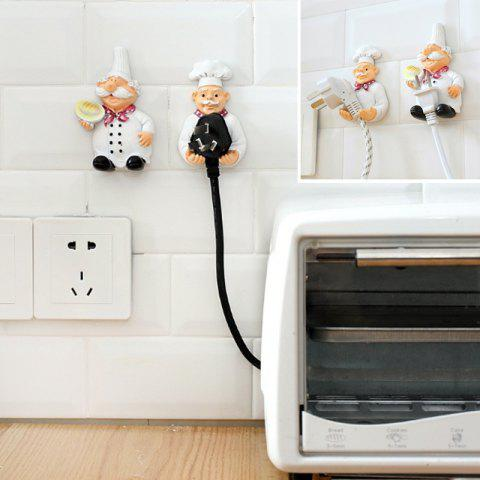 Cartoon Socket Power Cord Shelves Cute Creative Electronic Plug Hook Strong Stick Hook - WHITE 01