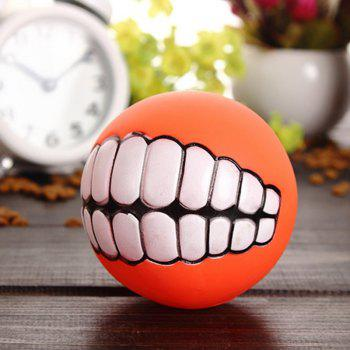 Pet Dog Puppy Ball Teeth Silicon Chew Toys Sound Novelty Playing Funny Toys (Color: Multicolor) - AS THE PICTURE GREEN
