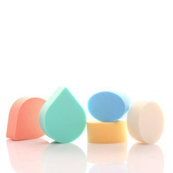 Boxed Water Droplets Oval Makeup Sponge Puff - multicolorCOLOR