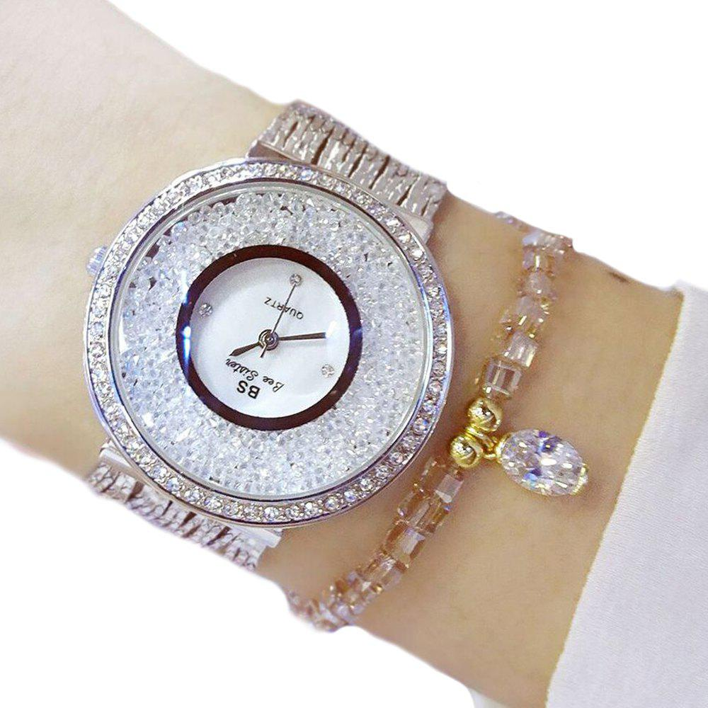 Most Recent Women Who Move Diamond Stone Dress Steel Ladies Rhinestone Bracelet Wrist Crystal Female Watch newest blue snow shape pattern bigger stone diamond crystal clutch ladies evening bags purse 88128a b