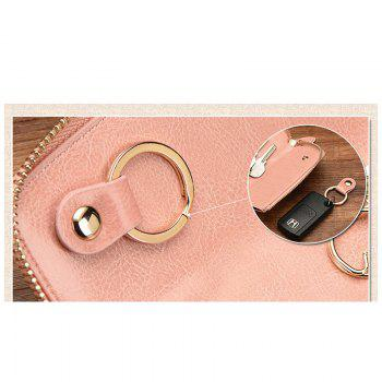 NaLandu Vintage Hollow Out Design Leather Key Holder Women Wallet Pouch - PINK
