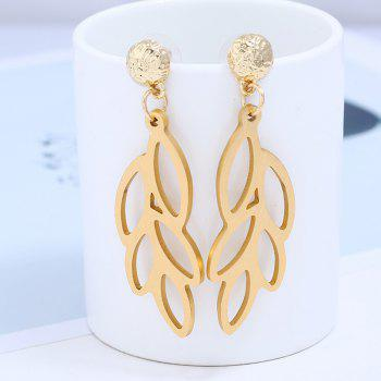 2018 New Fashion Woman Punk Rock Flower Leaf Earrings Trendy Courtship Earrings For Women Female Jewelry - GOLDEN