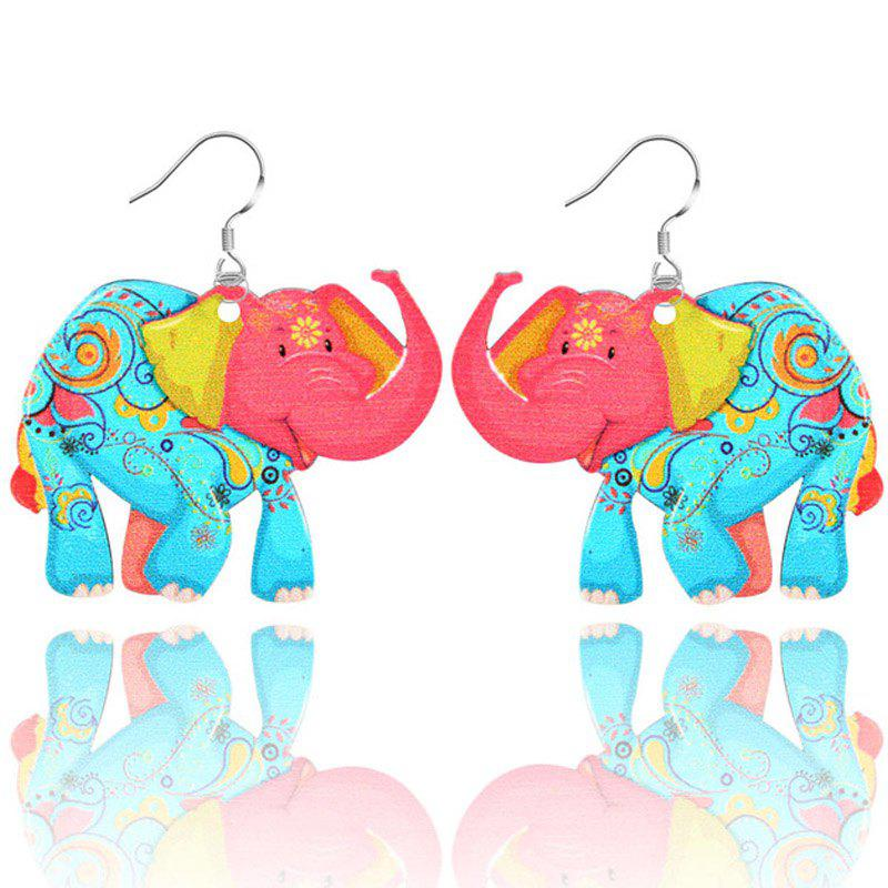 2017 New Fashion Jewelry Brand Cartoon Animal Happy Prairie Story Series Elephant Drop Earrings For Women And Girls - SKY BLUE CAMO