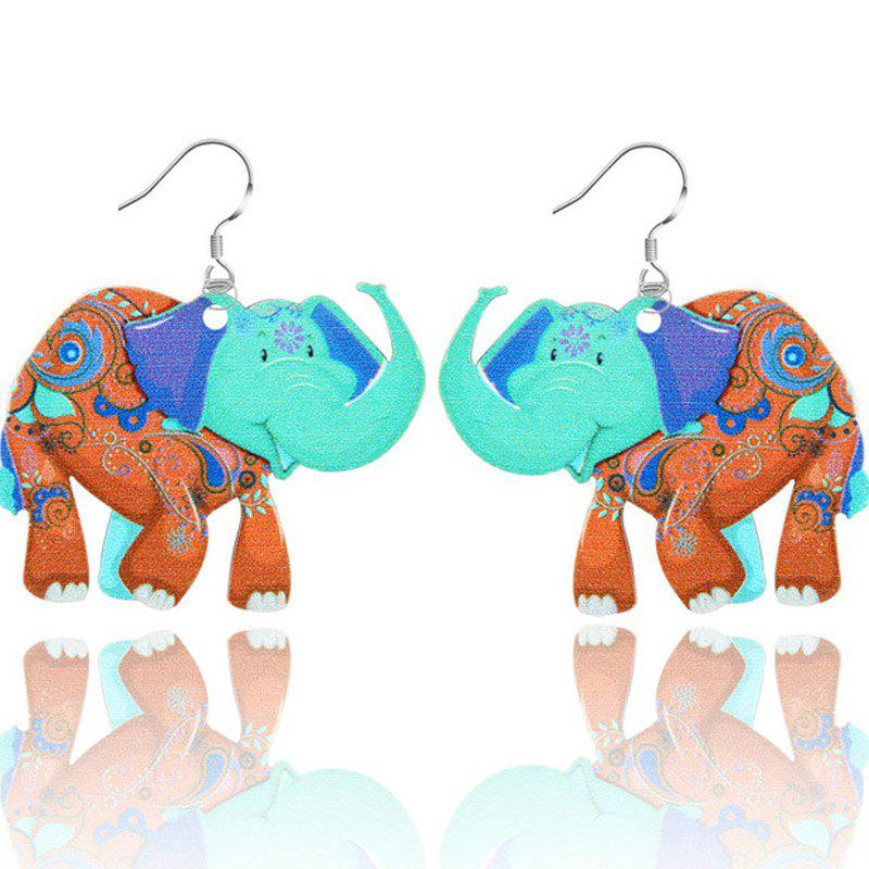 2017 New Fashion Jewelry Brand Cartoon Animal Happy Prairie Story Series Elephant Drop Earrings For Women And Girls - BROWN