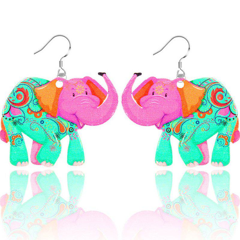 2017 New Fashion Jewelry Brand Cartoon Animal Happy Prairie Story Series Elephant Drop Earrings For Women And Girls - LIGHT GREEN