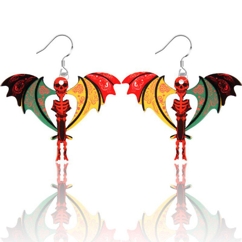 2017 New Fashion Jewelry Brand Cartoon Animal Happy Prairie Story Series Human Vampire Drop Earrings For Women - ORANGE