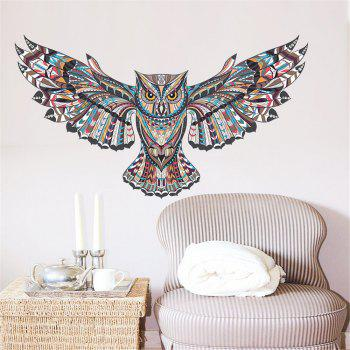 Creative Cartoon Wall Stickers Owl Home Decoration Waterproof Removable Decal - COLORMIX COLORMIX