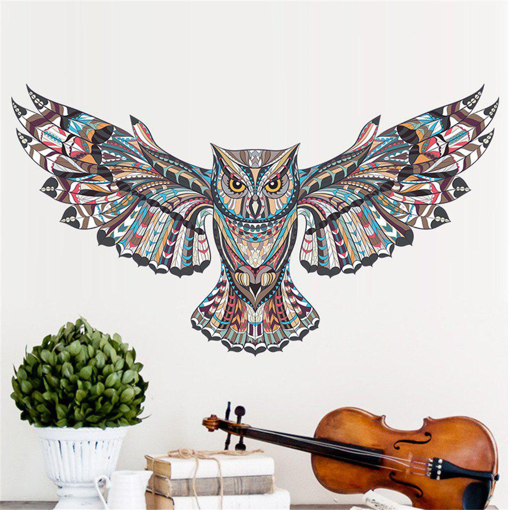 Creative Cartoon Wall Stickers Owl Home Decoration Waterproof Removable Decal - COLORMIX