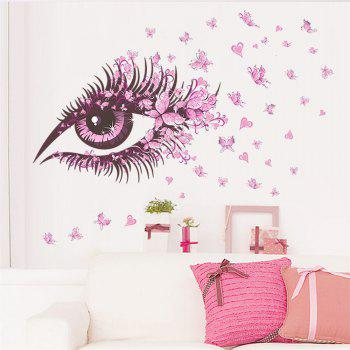 Pink Eye Butterfly Creative Decals For Home Decoration Removable Wall Art Picture - COLORMIX COLORMIX