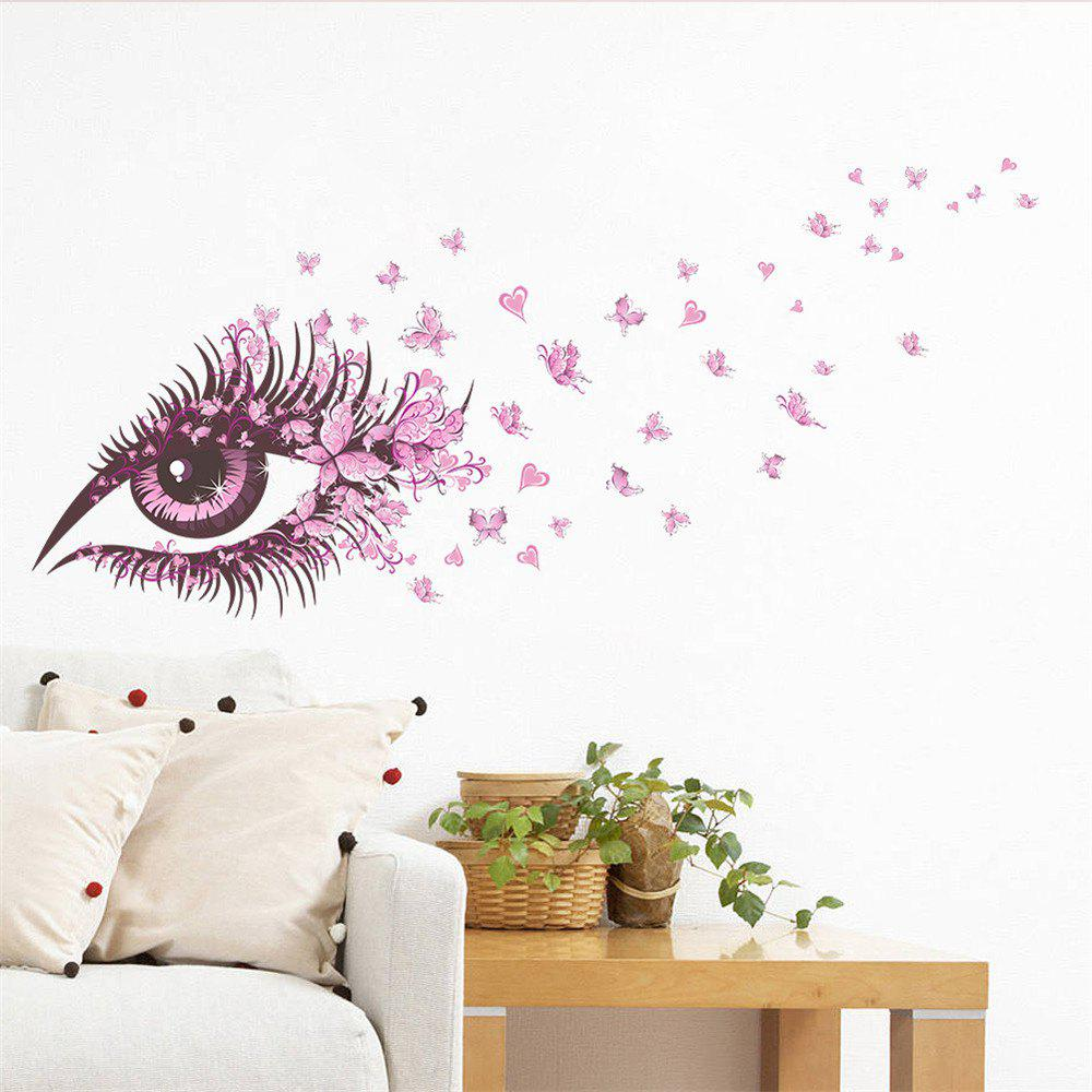 Pink Eye Butterfly Creative Decals For Home Decoration Removable Wall Art Picture - COLORMIX