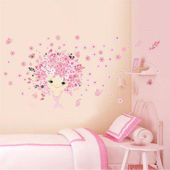 Princess Castle Wall Sticker For Kids Room Decoration Waterproof Removable Decals - COLORMIX