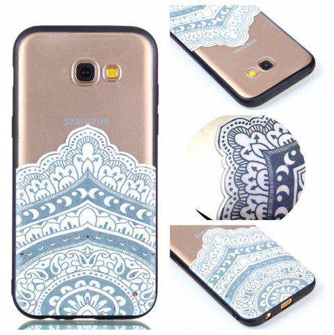 for Samsung A3 2017 Relievo Mandala Soft Clear TPU Phone Casing Mobile Smartphone Cover Shell Case - WHITE