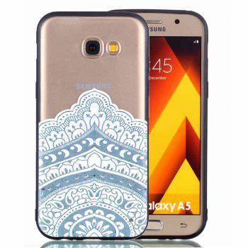 for Samsung A5 2017 Relievo Mandala Soft Clear TPU Phone Casing Mobile Smartphone Cover Shell Case - WHITE
