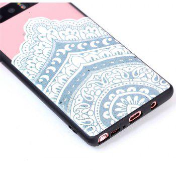 for Samsung Note 8 Relievo Mandala Soft Clear TPU Phone Casing Mobile Smartphone Cover Shell Case - WHITE