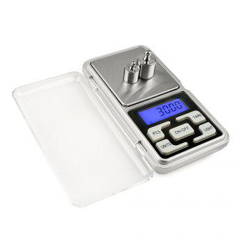 200G x 0.01g Mini Precision Digital Scales for Gold Bijoux Sterling Silver Scale Jewelry 0.01 Weight Electronic Scales - SILVER SILVER